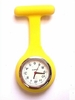 nurse watch - Silicone Yellow - With Pin