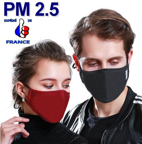 Masque Anti Pollution Filtre À Charbon Actif  Pm 2.5 N95 KN95
