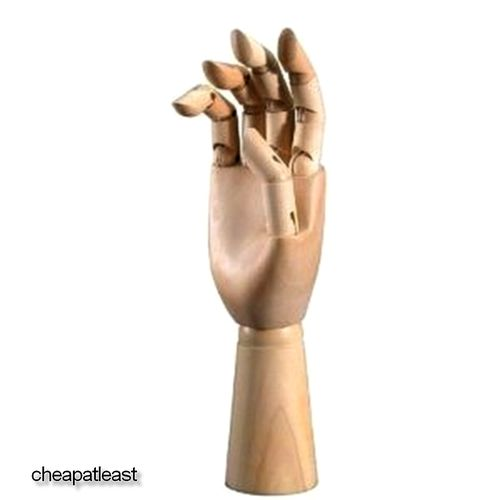 "Right Hand Wooden Mannequin model  25cm (9.8"")"