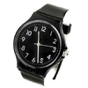 swatch design Classic Wrist Watch with Smooth Band Black