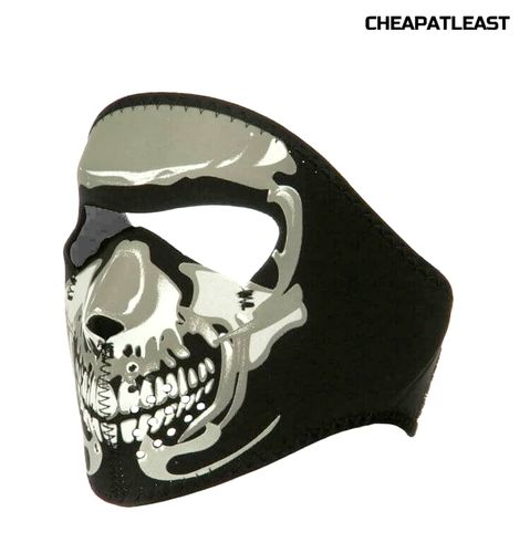 Skiing Motorcycle Biker Skeleton Skull Full Face Mask
