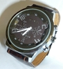 quartz watch for men case Ø 44 mm Brown Strap