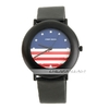 USA Flag Design Wrist Watch (Black)