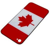 Canada Flag Replacement Back Battery cover Glass iphone 4