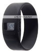 Fashion Anion silicone watch ionizer black