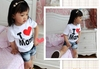 "T-Shirt, mixed  ""I Love Mama"" (Mother Love) - black or white -"