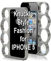 Coque Iphone 5 - Forme Poing Américain chrome