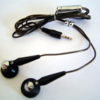 Stereo Headphone Black & Chrome - 2.5 mm jack -