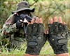 half finger gloves Mitts Swat with protection - 100% Leather