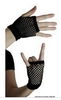 Pair Of mitains (Half finger gloves Mesh) One Size - Black