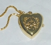 Necklace with Pendant Heart watch Hello Kitty - Gold