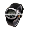 Digital Pulse Calories Calculating Timer Watch Black