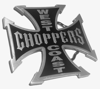 "Belt Buckle - Iron Cross Bikers ""West Coast Choppers"""