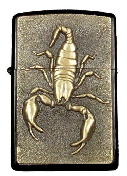 briquet temp te essence noir style zippo scorpion en. Black Bedroom Furniture Sets. Home Design Ideas