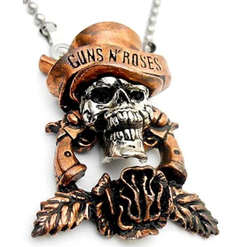 Necklace with Guns N' Roses Skull 3D pendant