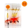 Triple Set Of 4 fishing Hooks and lure - 1 / 4