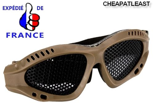 Metal mesh protection Brown goggles airsoft, Paintball Wargames