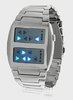 Templar - Japanese Inspired Blue LED Watch (Silver)