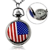 necklace Mini US National Flag Pattern Pocket Watch
