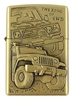 Briquet Tempête À Essence (Style Zippo) - Métal Cuivré - 4x4 (The King Of 4wd) En Relief -