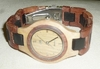 wooden bamboo watch, male & female dial Ø 36mm