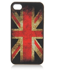 Coque pour Iphone 4 - Dirty Flag - Drapeau anglais / Union Jack