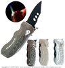 jet flame lighter with knife (auto switchblade safety)