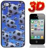Back Case for Iphone 4 - 3D soccer balls