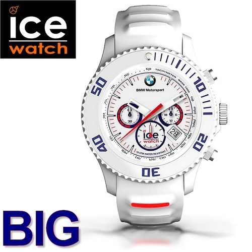 6abf186d4e3cd Montre Ice-Watch Chronomètre BMW Motorsport Homme Blanche 45 Mm