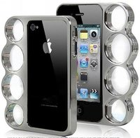 Coque Iphone 4 / 4S Poing américain chrome - Knuckle Style Fashion case