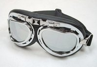 Motorcycle goggles Retro / Vintage - Style Aviator mirror lens
