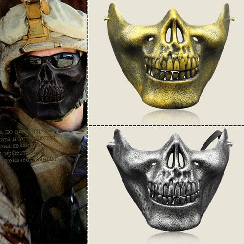 1/2 Half face skull Mask Protection for Paintball, Airsoft