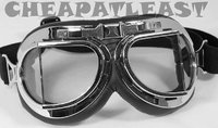 Vintage Bomber Motorcycle Goggles with Angular Lenses