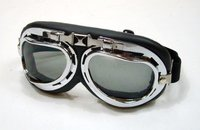 Motorcycle Goggles Retro Vintage Bomber Style smoked Lenses