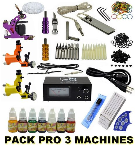 Kit Tatouage Complet Pack SET PRO 3