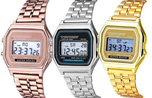 Montre digitale Rétro Vintage design style Casio seventies 70