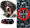Mask Neck Cover Tour - Skull + Iron War Cross West Coast Choppers