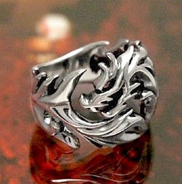Signet ring - Dragon - Style Samurai / Yakuza GOT