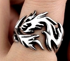 Signet ring 3D - Dragon - Style Samurai / Yakuza GOT
