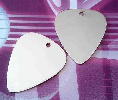 Steel metal guitar pick (pack of 2) - 1 mm thick