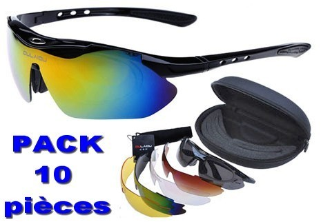 Pack sports goggles / glasses 10 pieces