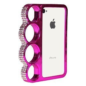 coque poing am ricain pour iphone 4 4s rose strass pas cher. Black Bedroom Furniture Sets. Home Design Ideas