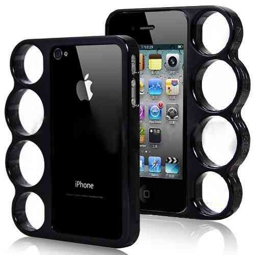 Coque Iphone 4 / 4S Poing américain Noire - Knuckle Style Fashion case
