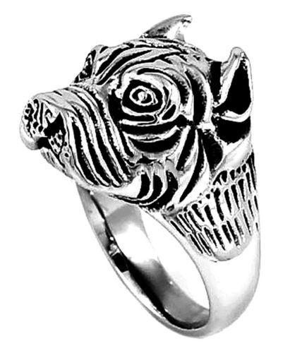 Exaggerated Dog Ring Pitbull hound head shaped Knuckle steel