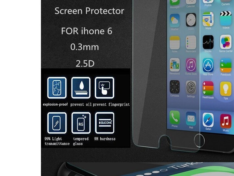cheapatleast protection cran pour iphone 6 en verre tremp. Black Bedroom Furniture Sets. Home Design Ideas