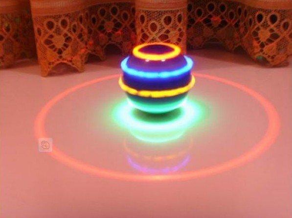 Cheap Luminous And Musical Spinning Top Ball Soccer