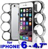 "Diamond silver Case for Iphone 6 / 4.7"" - Knuckle Style Fashion"