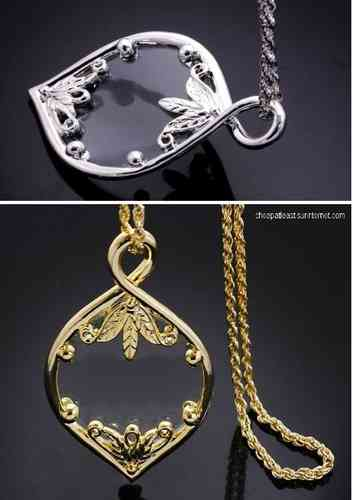 Choker neo-retro Necklace With Pendant Magnifier