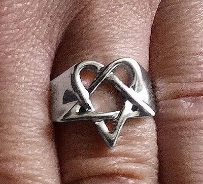 Cheapatleast signet ring heartagram him signet ring heartagram him aloadofball Image collections