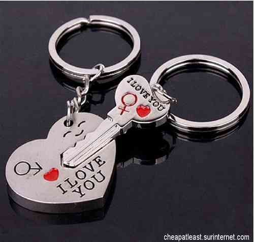 2 Keyring For Lovers Couple - key of my heart